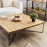 Wooden coffee table kitset assembly example
