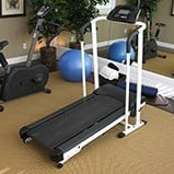 Home gym treadmill assembly example