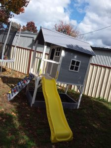 Kids Cubby House with Yellow Slide