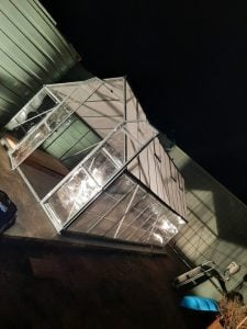 Rectangle Greenhouse under lights